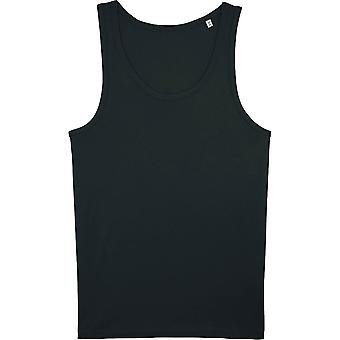 greenT Mens Organic Cotton Runs Round Neck Fitted Tank Top
