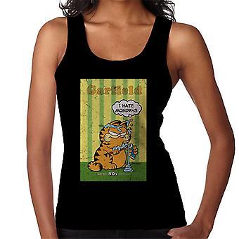 Garfield gretten jeg hat mandager tannpasta over det hele kvinner ' s vest