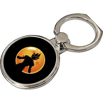 Saiyan Dragon Ball Silhouette Dragon Ball Super Phone Ring