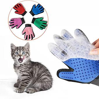 Pet Glove Cat Grooming Glove Cat Hair Deshedding Brush Gloves Dog Comb For Cats Bath Clean Massage Hair Remover Brush For Animal