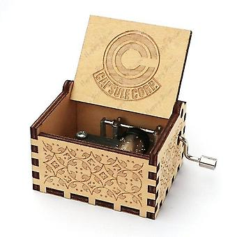 Dragon Ball Z Capsule Corporation Wooden Carved Hand-cranked Music Box