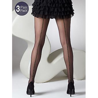 Gipsy Seamed Spot Tights 3 Pair Pack
