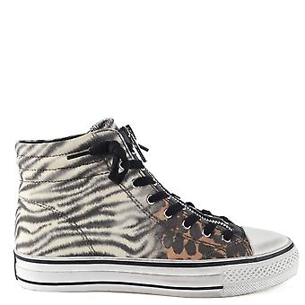 Ash GRUNT Zip Trainers Animal Print