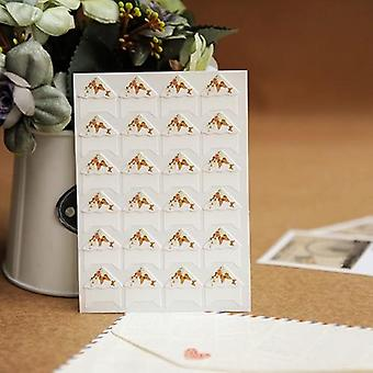 Diy Floral Print Corner Paper Stickers For Photo Albums Handwork Frame