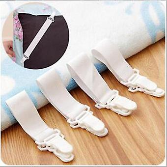 White Bed Sheet Mattress Cover Blankets Home Grippers Clip Holder Stoners Elastic Straps Fixing Slip Resistant Belt