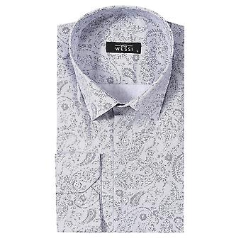 Patterned men's white shirt | wessi