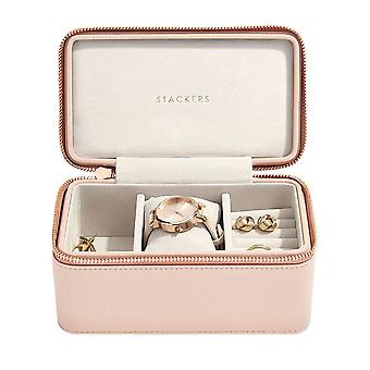 Stackers Blush Faux Leather Deep Watch Travel Jewellery Box