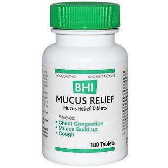 MediNatura, BHI, Mucus Relief, 100 Tablets