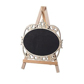 Mini Stand Blackboard with Easel Oval Lace