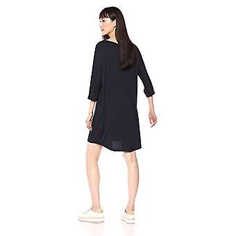 Brand - Daily Ritual Women's Jersey Bunch-Sleeve Dress, navy, Large