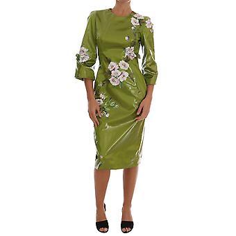 דולצ ' ה & גבאנה ירוק ורדים ורודים להדפיס נדן שמלה DR1220-1