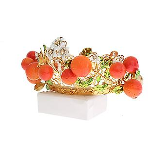 Dolce & Gabbana Multicolor Alamă Crystal Sicilia Orange Tiara NOC10651