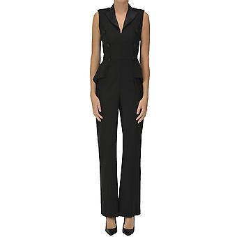 Nualy Ezgl537009 Naiset's Musta Polyesteri Haalari