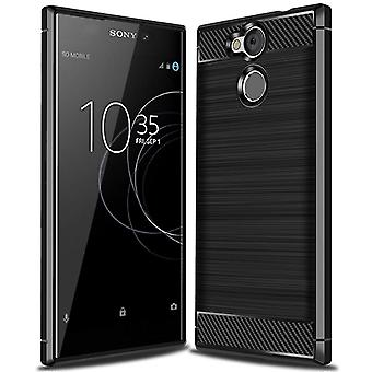 Einfarbige Carbon Fiber Shell für Sony Xperia L2 Mobile Protection Rubber Matte Protection Mobile Shell