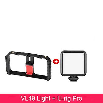 Vl49 6w Mini Led Video Light 2000mah Built-in Baterie 5500k iluminat fotografic U Bright 2700k-3500k Vlog Fill Light