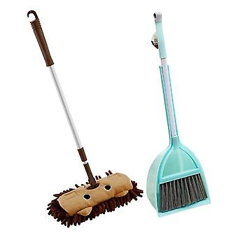 Kids Housework Children Mop Broom Dustpan Set - Mini Sweeping House Cleaning Toys