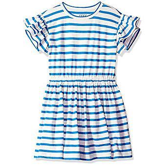 / J. Crew Brand - LOOK by Crewcuts Girl's Ruffle Sleeve Dress, Blue Str...