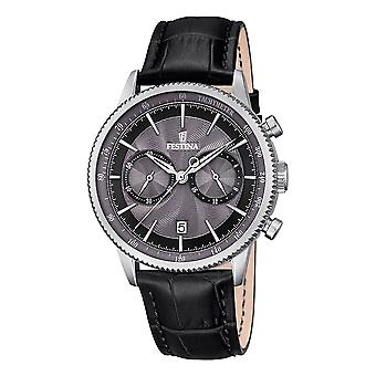 Festina Watch for Analog Quartz Men with Cowhide Bracelet F16893/5