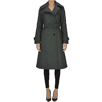 Dries Van Noten Ezgl093189 Women's Grey Wool Coat