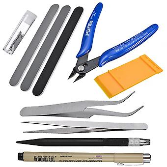 Model Tool Precision, Diagonal Pliers Engraving Pen, Double-sided, Polished Bar