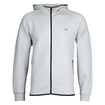 Lacoste Homme Grey Zip Through Hooded Sweatshirt