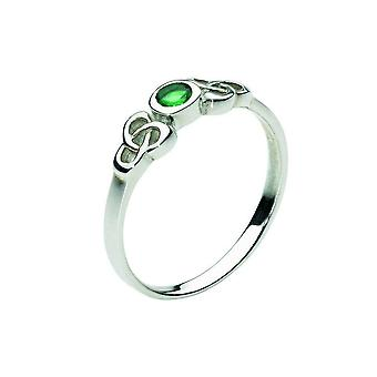 Heritage Celtic Small Round Stone Ring 1208GG