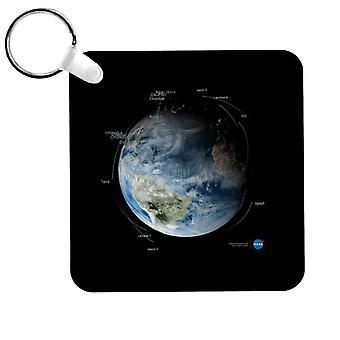 NASA 衛星軌道パス キーリング