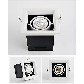 Led Bean Pot Light 900lm Rectangular Grille Lamp Highlighted Ac85-265v