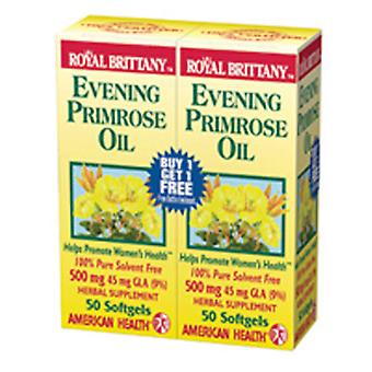 American Health Evening Primrose Olie, 500 mg, 50 + 50 Sftgls
