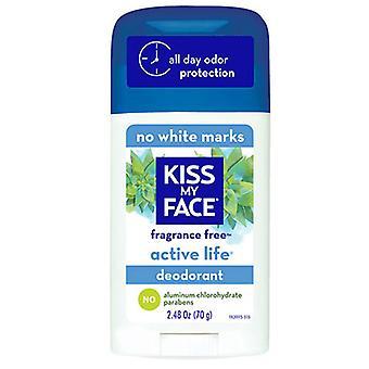 Kiss My Face Deodorant Active Life, Fragrance Free EA 1/2.48 OZ