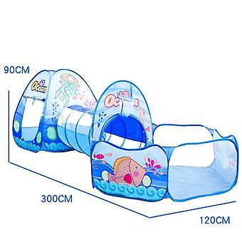 3 In 1 Portable Toy-tent For's, Tipi-tents Crawling Tunnel Pool-ball Baby Play