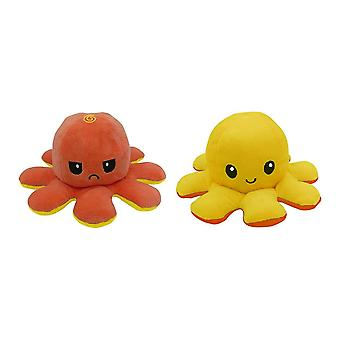Cute Flipped Octopus Doll- Double Sided Expression, Reversible Toy