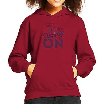 Strictly Come Dancing Get Your Strictly On Metallic Print Kid's Hooded Sweatshirt