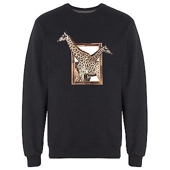 Two Giraffes On Frame S Sweatshirt Men's -Image by Shutterstock