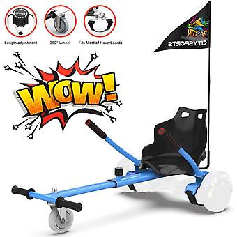 CitySport HoverKart for All Size Hoverboards with Flag-Blue