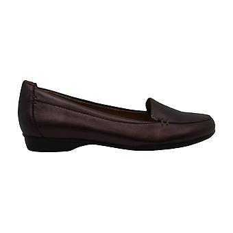 Naturalizer Womens Lea Läder Almond Toe Loafers