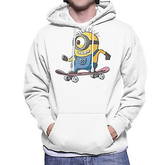 Despicable Me Carl The Minion Skateboarding Men's Hooded Sweatshirt