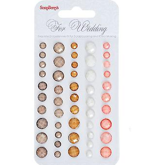 Adhesive gems faceted 50pcs/5colors For Wedding 2