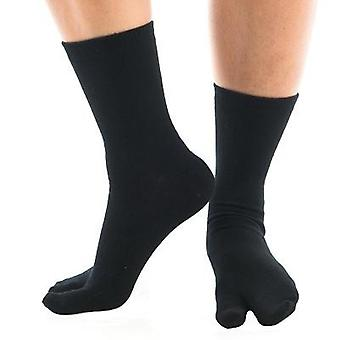 Flip Flop Tabi Ponožky - Black Solid-1 Pair