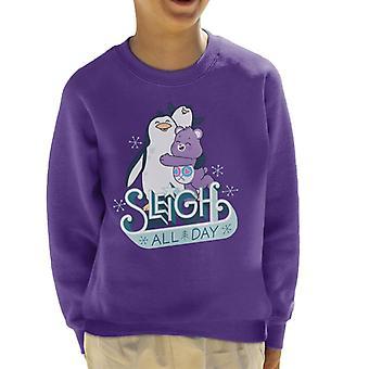 Care Bears Unlock The Magic Christmas Slee All Day Kid's Sweatshirt