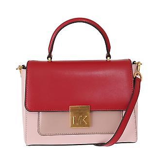 Red pink mindy satchel crossbody bag