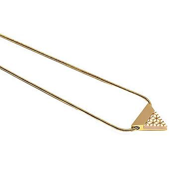 BeWooden Virie Traingle Necklace - Gold/Brown