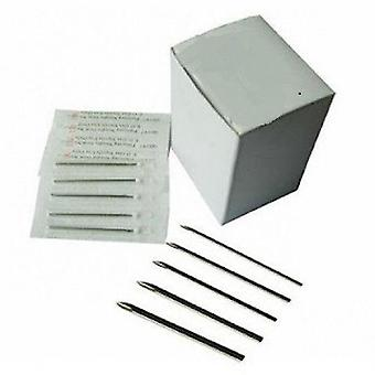 100 Pc. sterilized body piercing needles (12g, 10g, 8g) - wholesale pricing