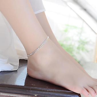 Sterling Silver Triple Layer Snake Lanț Brățară bijuterii de moda