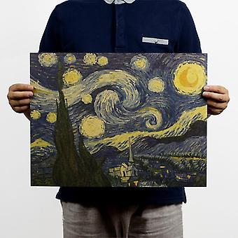 スターノスタルジックレトロクラフト紙ポスターマガジン絵画装飾