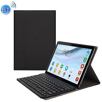 A18 Pellan rakenne Irrotettava magneettinen muovinen Bluetooth-näppäimistösuoja nahkakotelo Huawei MediaPad M5 10.8 Pro / 10.8, jalustalla (musta)