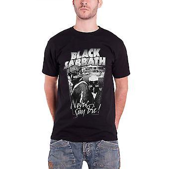Black Sabbath Mens T Shirt Black Never Say Die Live on Tour 1978 Official