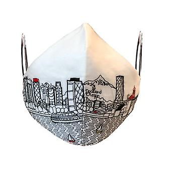 Portland Embroidered Skyline Fashionable Face Mask