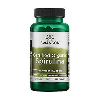 Zielone formuły żywności certyfikowane organiczne spirulina 500 mg 180 tabletki 500mg