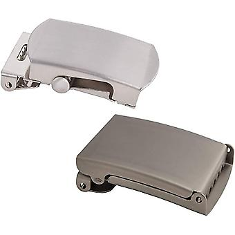 Shenky set of 2 4cm matte and silver high quality buckle for fabric belt